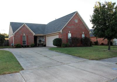 Olive Branch Single Family Home For Sale: 10723 Pecan View