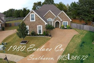Desoto County Single Family Home For Sale: 1980 Enclave Cove