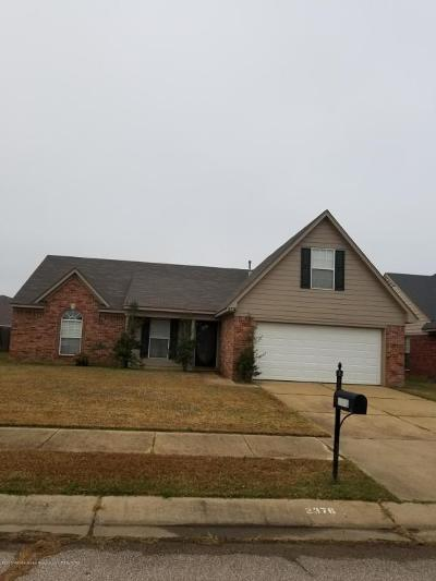 Horn Lake Single Family Home For Sale: 2376 Pappy Lane