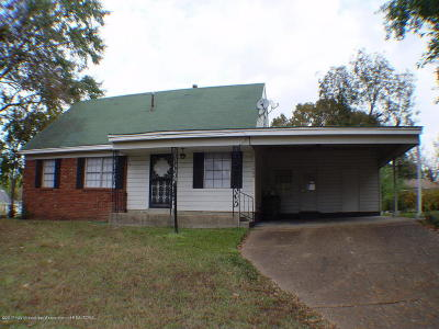 Southaven Single Family Home For Sale: 1480 Moss Point Drive