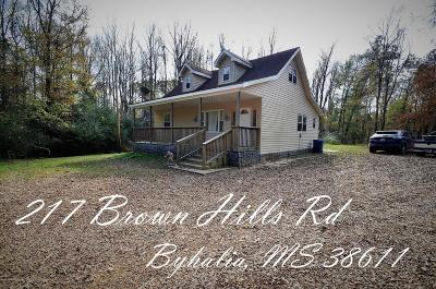 Byhalia Single Family Home For Sale: 217 Brown Hills Road