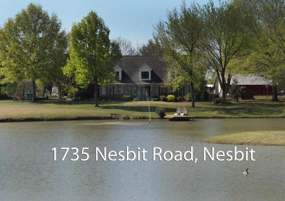 Desoto County Single Family Home For Sale: 1735 Nesbit Road