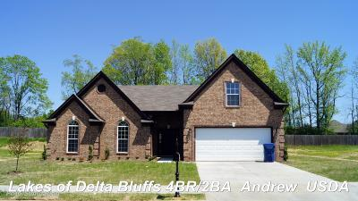 Walls Single Family Home For Sale: 7718 Delta Bluffs Parkway Cove