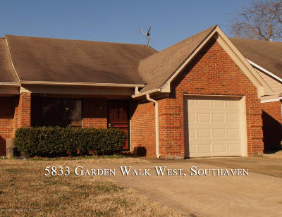 Southaven MS Single Family Home For Sale: $77,000