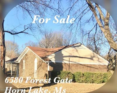 Horn Lake Single Family Home For Sale: 6580 Forestgate