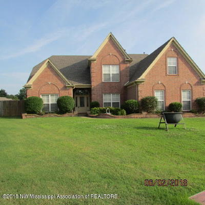Olive Branch Single Family Home For Sale: 13303 E Baskins Cove