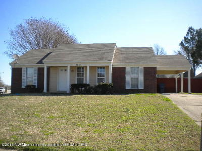 Horn Lake Single Family Home For Sale: 7410 Cliffwood Drive
