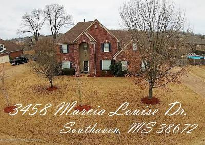 Southaven Single Family Home For Sale: 3458 Marcia Louise Drive
