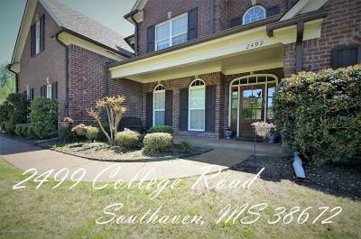 Southaven Single Family Home For Sale: 2499 College Road