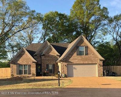Tate County Single Family Home For Sale: 104 Highland Cove