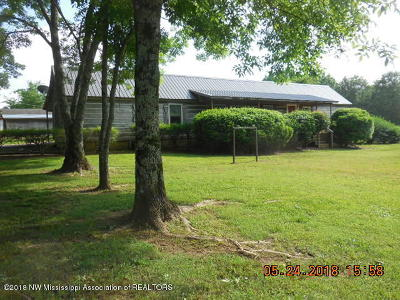Tate County Single Family Home For Sale: 3468 Looxahoma-Tyro Road