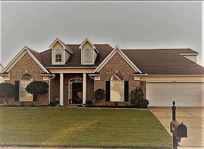 Olive Branch MS Single Family Home For Sale: $188,500