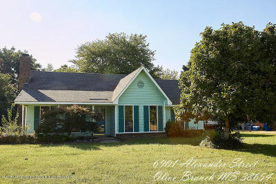 Olive Branch Single Family Home For Sale: 6901 Alexander Road