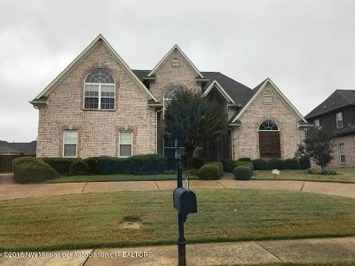 Olive Branch Single Family Home For Sale: 9679 Joe Lyon Boulevard