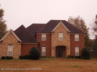 Olive Branch MS Single Family Home For Sale: $319,900