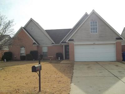 Horn Lake MS Single Family Home For Sale: $154,900