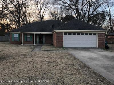 Tate County Single Family Home For Sale: 103 Nichols Boulevard