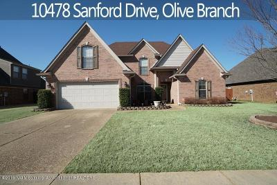 Olive Branch Single Family Home For Sale: 10478 Sanford Drive