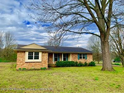 Tate County Single Family Home For Sale: 63 Norris Road