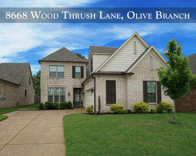 Olive Branch Single Family Home For Sale: 8668 Wood Thrush Drive