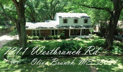Olive Branch Single Family Home For Sale: 7211 Westbranch Road
