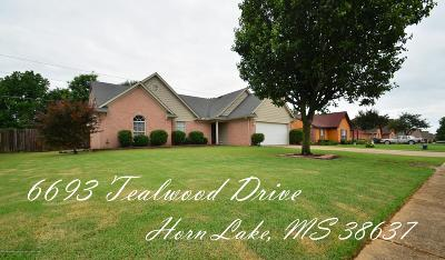 Horn Lake Single Family Home For Sale: 6693 Tealwood Drive