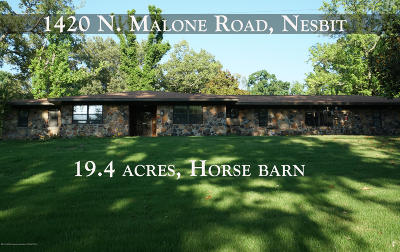 Desoto County Single Family Home For Sale: 1420 N Malone Road