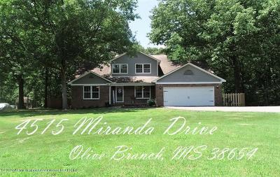 Desoto County Single Family Home Active/Contingent: 4515 Miranda Drive