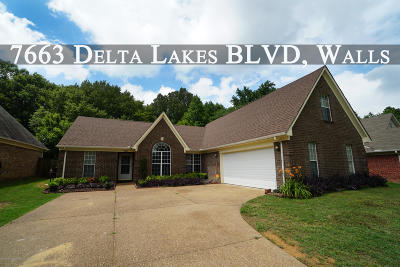 Walls Single Family Home For Sale: 7663 Delta Lakes Boulevard