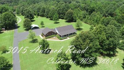 Tate County Single Family Home For Sale: 3015 Antioch Road