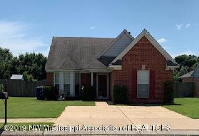 Olive Branch MS Single Family Home For Sale: $126,900