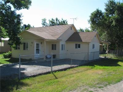 Absarokee MT Single Family Home Sold: $159,000