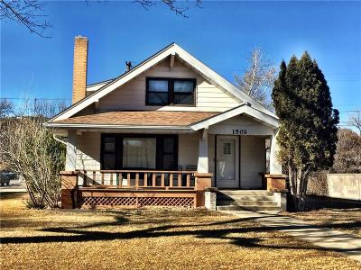 Single Family Home For Sale: 1502 Franklin Street, Fort Benton