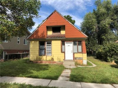 Yellowstone County Single Family Home Contingency: 107 Custer Ave