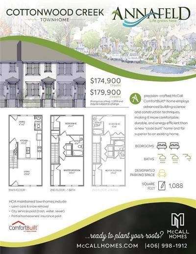 Billings Condo/Townhouse For Sale: 1638 Walter Creek Boulevard