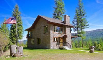 Single Family Home For Sale: 33452 Yaak River Rd, Yaak