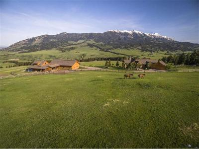 Bozeman MT Single Family Home For Sale: $3,895,000
