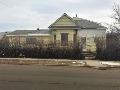 Butte MT Single Family Home For Sale: $124,900