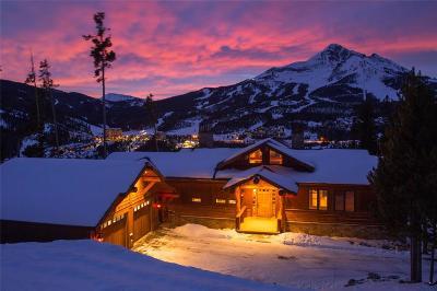Big Sky Single Family Home For Sale: Moose Ridge Lodge