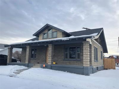 Butte, Whitehall, Ramsay, Divide, Helena, Melrose, Wise River, Belgrade, Manhattan, Livingston, Bozeman, Big Sky Single Family Home For Sale: 1603 Phillips
