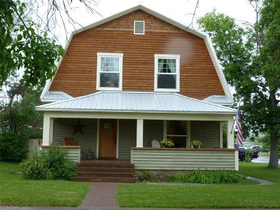 Big Timber  Single Family Home For Sale: 418 E 4th Avenue
