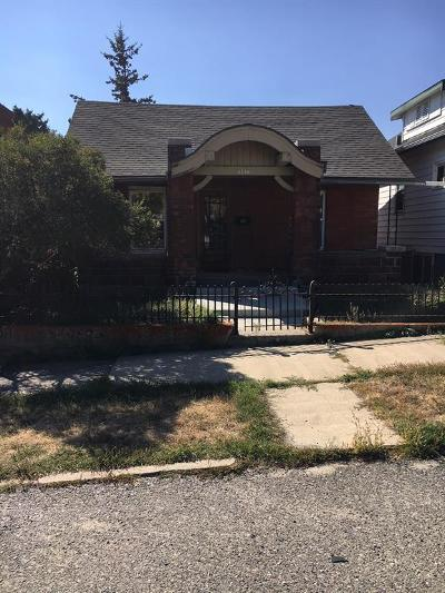 Butte MT Single Family Home For Sale: $115,000