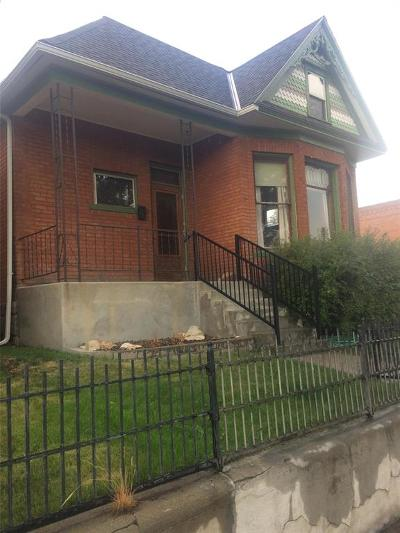 Butte MT Single Family Home For Sale: $150,000