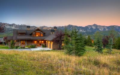 Big Sky Single Family Home For Sale: 7 Half Hitch
