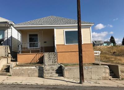Butte MT Single Family Home For Sale: $87,500