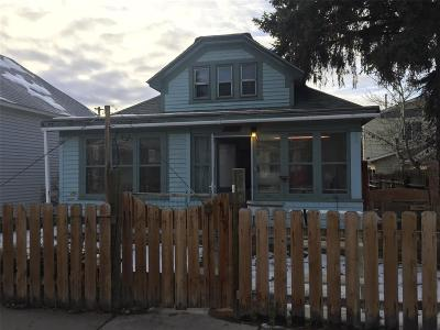 Butte MT Single Family Home For Sale: $94,900