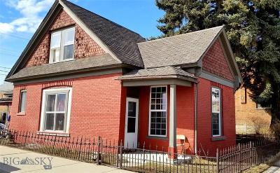 Butte, Walkerville Single Family Home For Sale: 135 W Iron