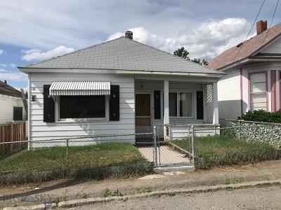 Butte Single Family Home For Sale: 209 W Woolman