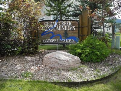 Big Sky Condo/Townhouse For Sale: 13 Moose Ridge Road