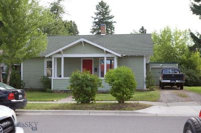 Bozeman Single Family Home For Sale: 324 Wallace Avenue N